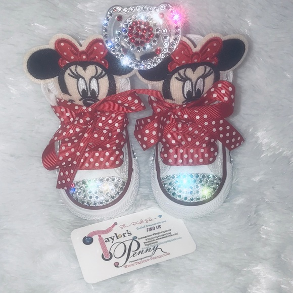 00a4ed717d42 Girls Bling Sneakers. Boutique. Converse